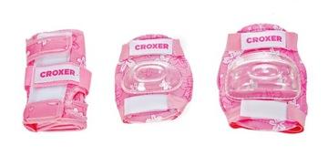 Chrániče korčúľ Croxer Fiber Pink XS - Set