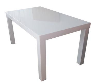 Белый стол GLOSS 120x90 + 2x50 на 220 по индивидуальному заказу