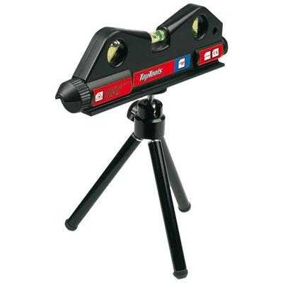 Laserový merač - MINI POZIOMNICA LASER STAND STATYW 3 libely