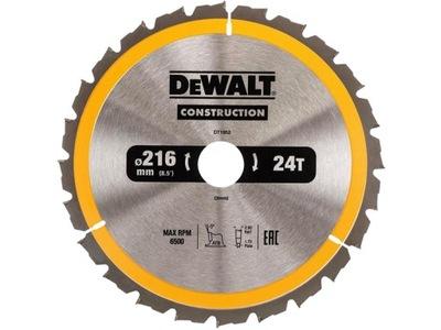 Rezací kotúč - DeWALT pílový kotúč na drevo 216mm 30mm 24z DT1952