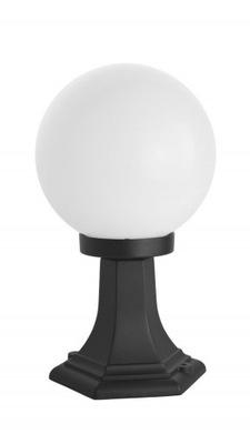 Svietidlá vstupné vonkajšie - Lampa zewnętrzna KULA stojąca 36 cm 60W SU-MA