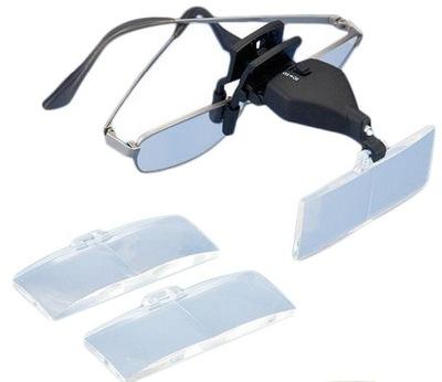 ЛУПА на очки НОВИНКА LED 1 ,5X- 3 ,5X 9157-2
