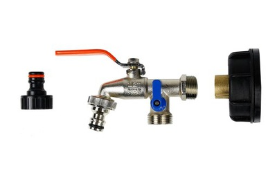 2x КРАН 1 /2 +пробка адаптер клапан mauzer IBC 1000Л