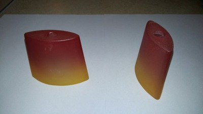 Абажур стеклянный G4 желтый - оранжевый
