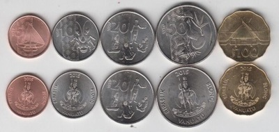 VANUATU 2015r zestaw 5 monet