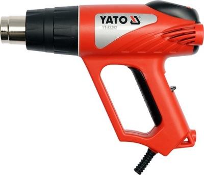 Teplovzdušná pištoľ - BURNER + príslušenstvo 2000W LED INDIKÁTOR YT-82292 YATO