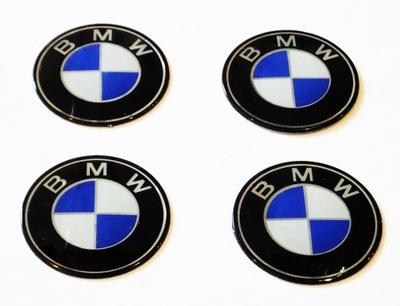 EMBLEMATY NAKLEJKI LOGO NA KOŁPAKI FELGI BMW 55mm