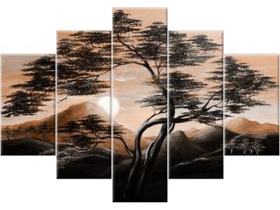 Obraz Krajiny 150x105 Horskej krajiny Triptych