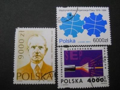 Polska - Fi. 3345-46, 3350 - zestaw - kasowane