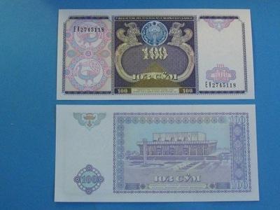 Узбекистан Банкноты 100 Сом 1994 P-Семьдесят девять UNC