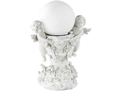 Záhradné svietidlo vstupné - Dekoratívna socha so solárnou guľou Angels Lunartec