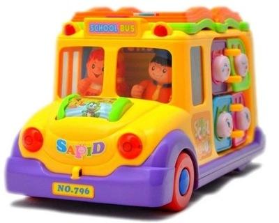 Interaktívna hračka kocky - PLASTOVÁ HRAČKA AUTO AUTOBUS SO šoférom, ZVUKY,