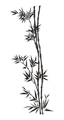 Šablóna na maľovanie stien - Bambusový bambus 120x48cm ŠPECIFIKOVANÉ ŠTANDARDY 15ks