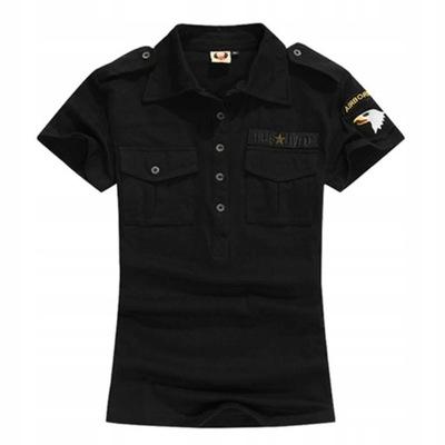 Militarna Koszulka Polo Damska Z Naszywkami L 7676010382 Oficjalne Archiwum Allegro