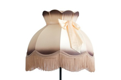 Svietidlo - tienidlo - Abażur stylowy z kokardą - rozmiar średni.