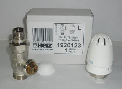 Podlahové vykurovanie - Splachovaný podlahový ventil RTL + HERZ mini HEAD