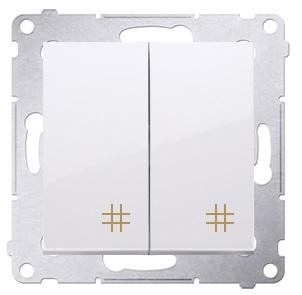 KONTAKT-SIMON 54 Konektor dvojitý kríž biely