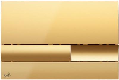AlcaPLAST Tlačidlo krídlovky WC M1745 zlato DOLPHIN