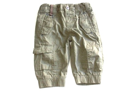 MIHINI ___ spodnie khaki na podszewce ___   68/74