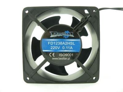 Komínový ventilátor pre krb 120x120x38mm 230V