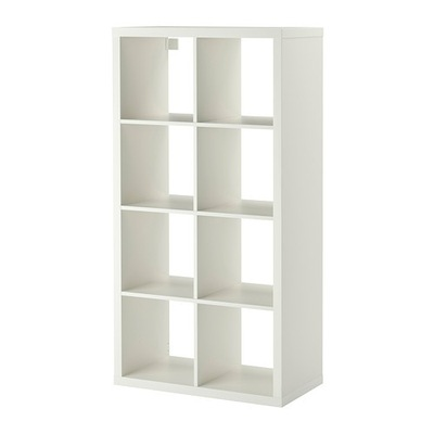 IKEA skriňa police KALLAX polica biela kurier24
