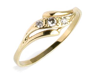 Złoty 585 Pierścionek Zaręczynowy Z Cyrkoniaw24h 6332506904