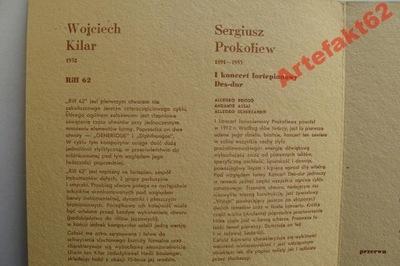 ORKIESTRA POLSKIEGO RADIA PROGRAM KONCERTU 1964