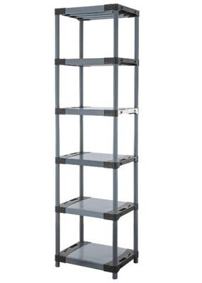 Regál - polica -  Skladovací stojan ako kovový Titanium-6 222x70x46
