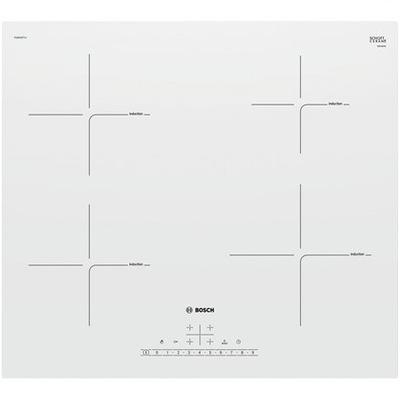 белая плита индукционная Bosch Hob PUE612FF1J таймер