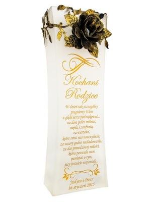 Vyryté váza XXL MAT s rose rodičov RYTCA