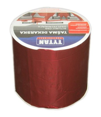 Taśma dekarska czerwona Tytan 10x15 cm CZERWONY