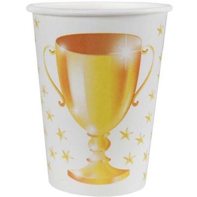 Detský hrnček, pohár - TENIS tenisový pohár BIAŁE zlatý 10ks