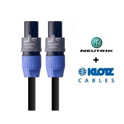Kabel głośnikowy 2,5mm2 SPEAKON NEUTRIK KLOTZ 10m