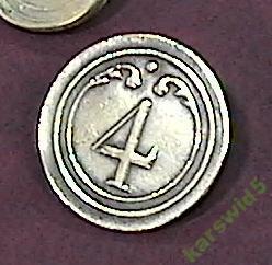 пуговица Герцогство  4 _ _ или 2 большие или маленькие