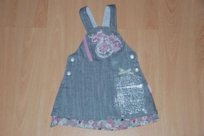 Śliczna sukienka firmy COCCODRILLO r. 74 j. nowa