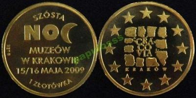 VI Noc Muzeów Kraków 2009 rok - 1 złotówka !
