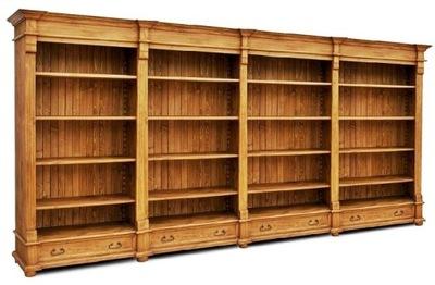 Drewniany regal na ksiazki,drewniana biblioteka - nowosc.