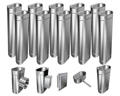 Kotol - 1mm CHIMNEY INSERT 12m 140x200 Tepelne odolný HIT