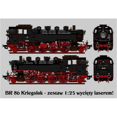 Angraf Model spec/2013 Паровоз BR 86 масштаб 1 :25