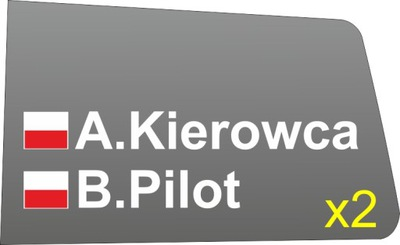 Nazwiska na szyby, rajdowe, RSMP, RO, RSMŚL, FIA