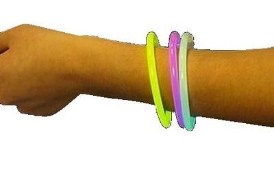 Náramok, koráliky pre deti - BRÚSENÁ fosforeskujúca ruka Svietiaca 100 ks