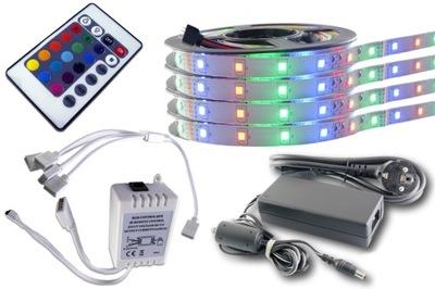 KIT LED svetelné pásy 300 3528 2835 RGB controller 20 m
