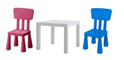 SADA IKEA nedostatok STÔL + 2 x detská STOLIČKA MAMMUT