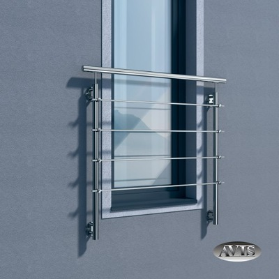 Балкон французский , свет окна 120 см, сталь нержавеющая