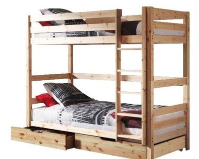 Poschodová posteľ pre deti SEKERA 190x80-stojan 160 kg