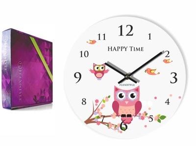 Detské hodiny, budík - Detská stena s hodinami SOWA detská izba pokojná