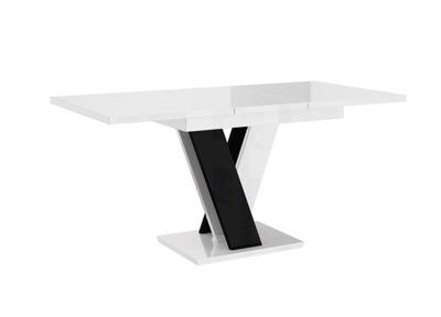 стол ?????????? 120-160 Бело-Черный блеск +