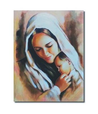 Obraz MARYJA MATKA BOSKA Z JEZUSEM JEZUS MARIA