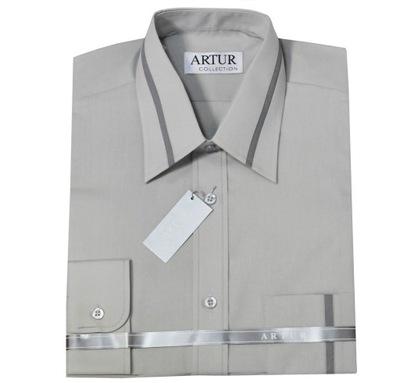 ARTUR Koszula męska na spinki 38170 176 BIAŁA 1348030301  1WNtb