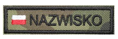 Полоса Имя WZ93 с флагом Name Патч-Форму